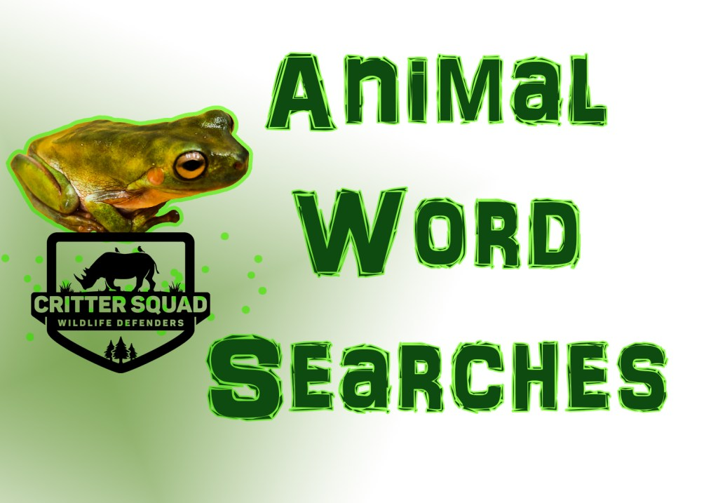 animal word search banner