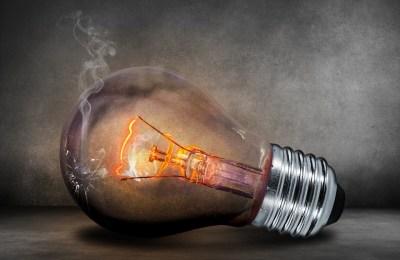 Bild: durchgebrannte Glühbirne