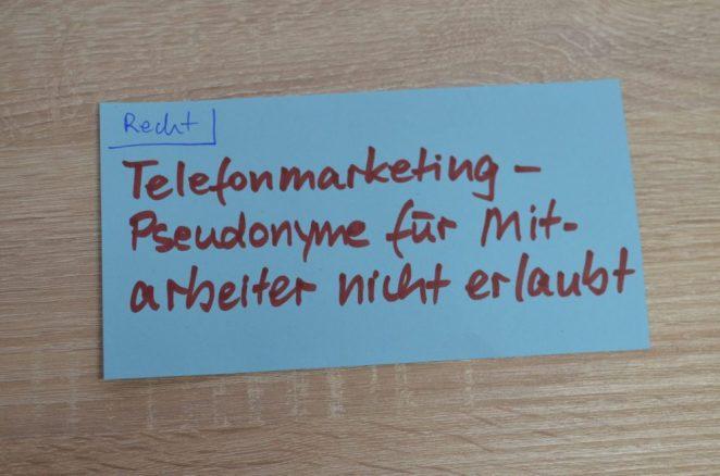 Telemarketing / Telefonmarketing-Urteil