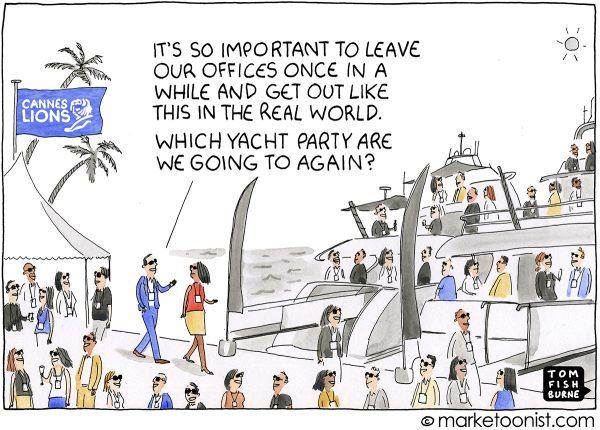 danger of yacht parties / Marketoonist - die Gefahr der Yachtpartys :-)