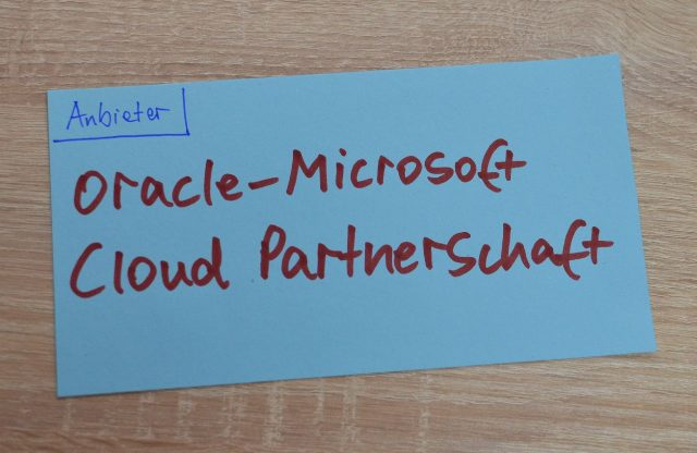 Oracle-Microsoft Cloud Partnerschaft