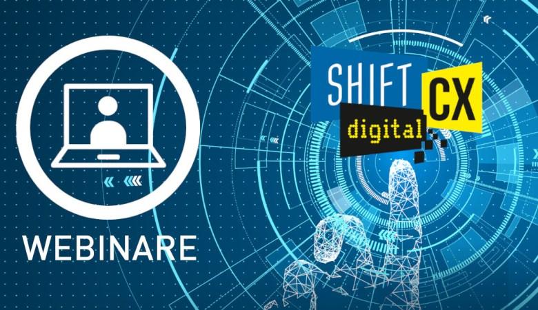 Logo ShiftCX digital webinare