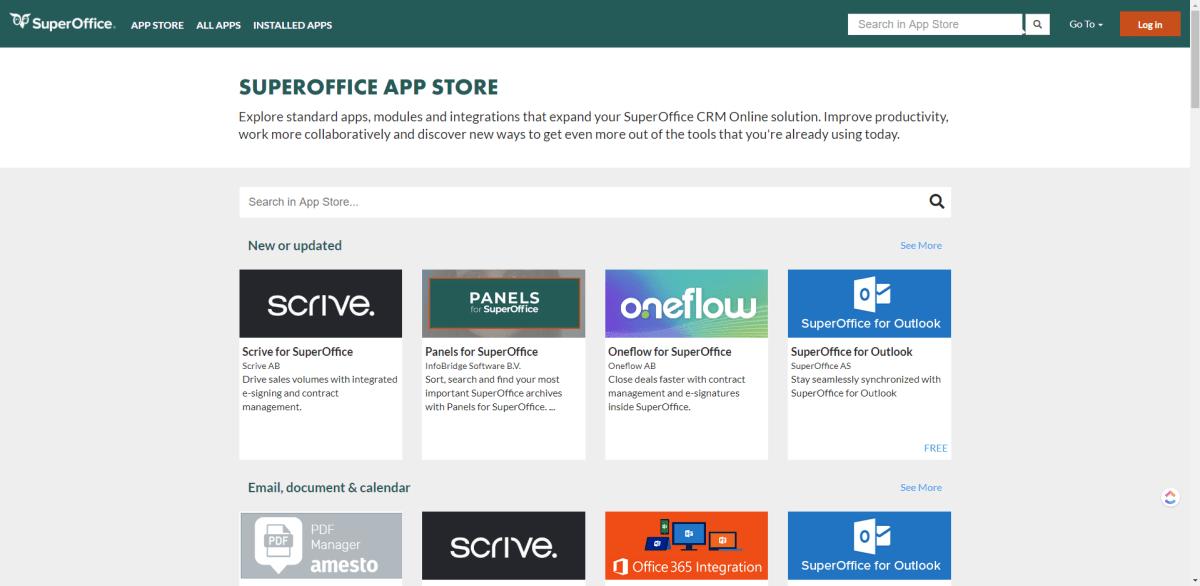 SuperOffice AppStore