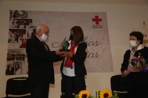 Cruz Roja Mexicana Delegación SLP reconoció la labor de Lorena Valle Rodríguez, Presidenta del DIF como Presidenta Honoraria de Cruz Roja.