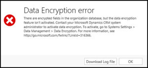 CRM Data Encryption Error