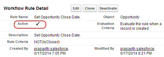 Generating default Opportunity close Date with Field update