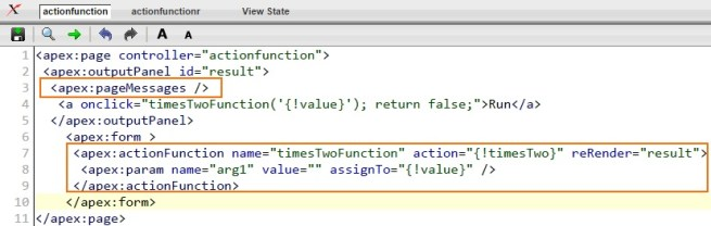 Actionfunction in Salesforce Example