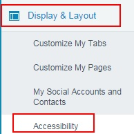 Enabling Accessibility Mode in salesforce