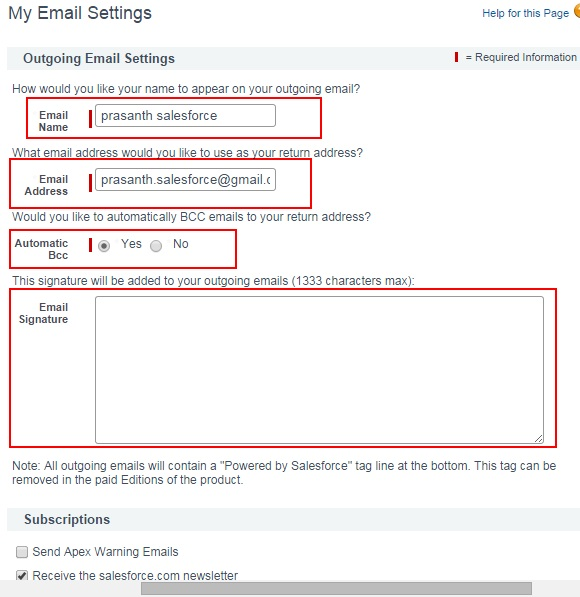 How to Edit Email Settings in Salesforce.com