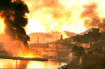 The siege of Dubrovnik (from Croatia.org)