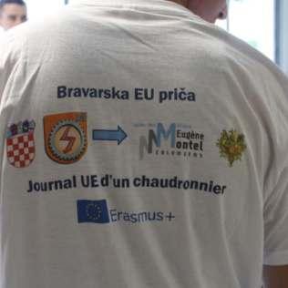 Le tee-shirt ERASMUS du Lycée de Slavonski Brod