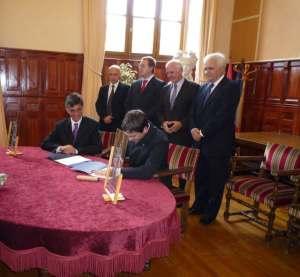 Signature de la Charte de Jumelage entre Villefranche et Pula