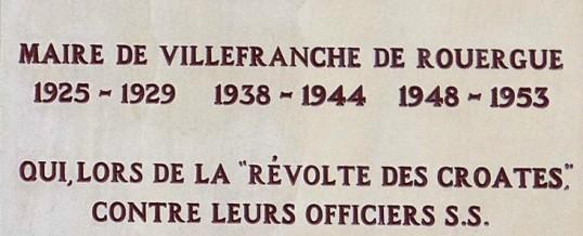 17 SEPTEMBRE 2003 : SOIXANTIÈME ANNIVERSAIRE DE LA RÉVOLTE DES CROATES