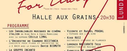 SOLIDARITÉ AVEC LES VICTIMES DES TREMBLEMENTS DE TERRE EN ITALIE