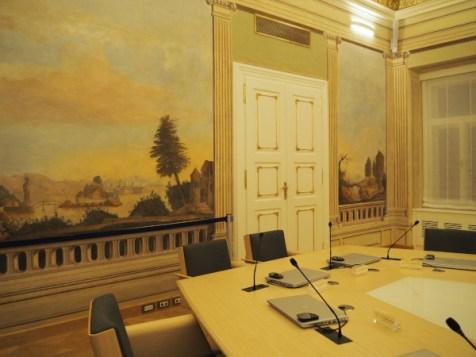Salle du Conseil des Ministres de Croatie et les fresques restaurées