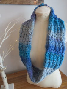 Azure Skies crochet Cowl Pattern