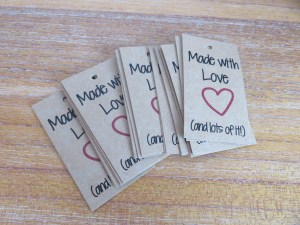 Made with Love gift tags from Crochet 247