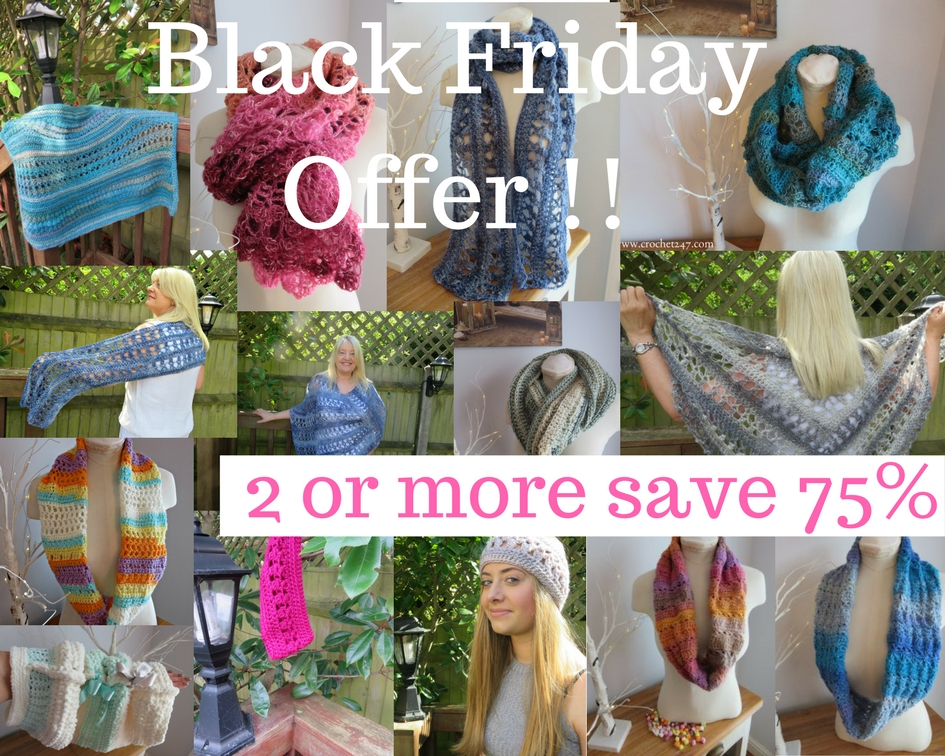 Crochet patterns Black Friday Offer from Crochet247