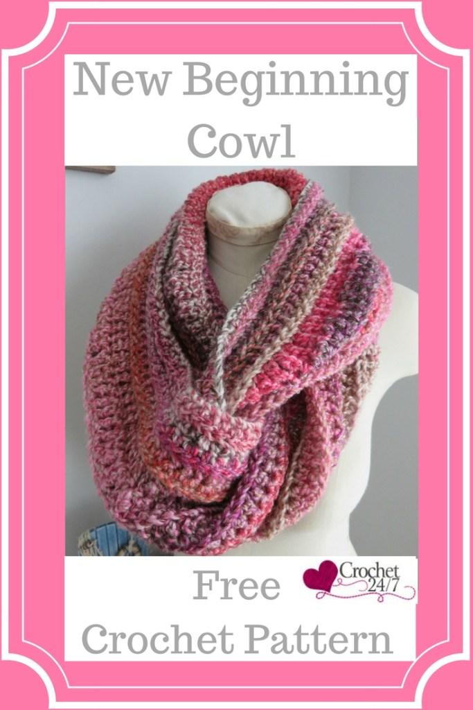 New Beginning Infinity Cowl Crochet Pattern