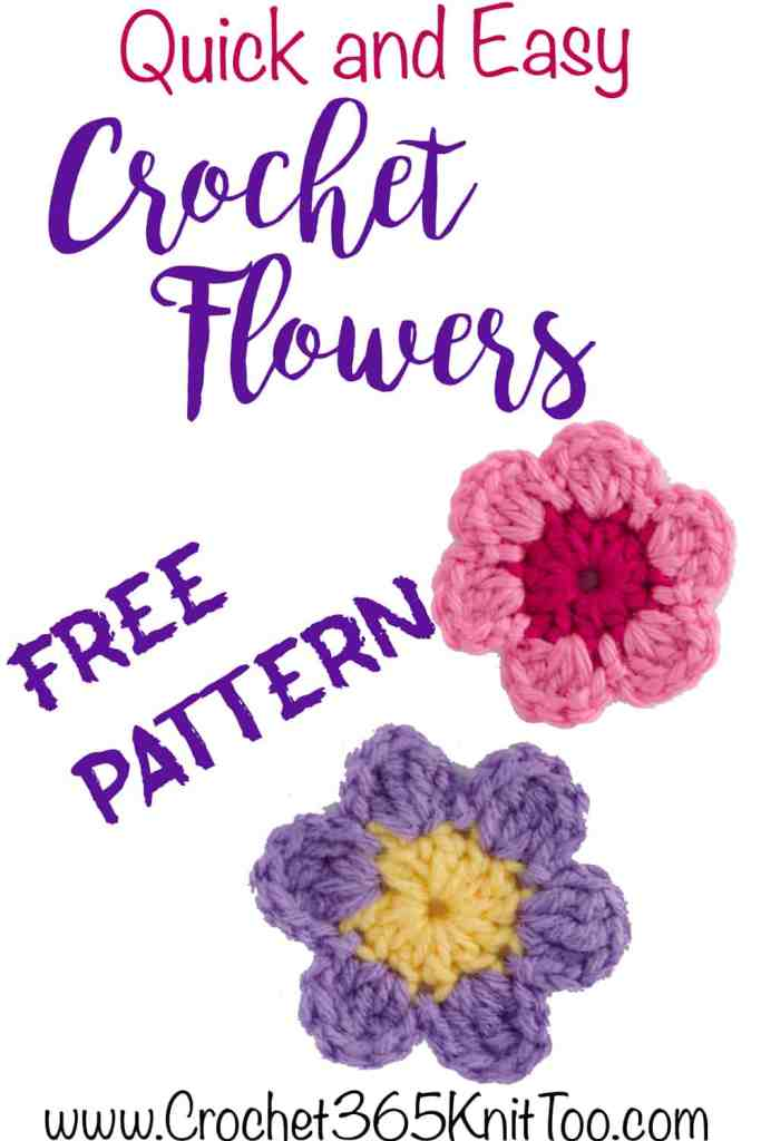 Quick and Easy Crochet Flowers Free Pattern