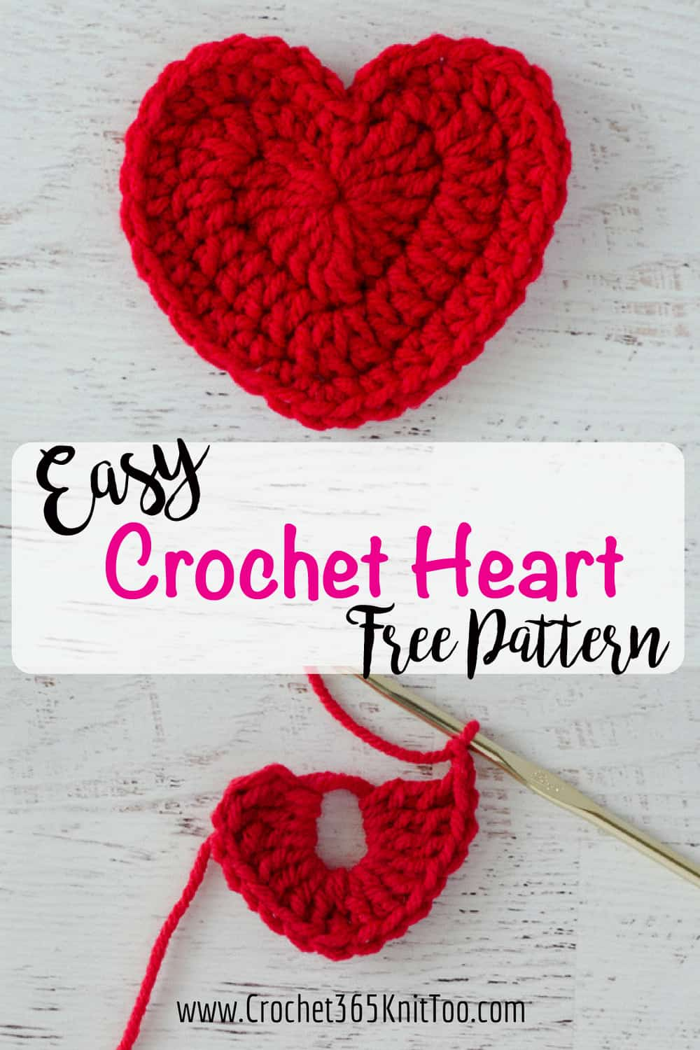 Crochet heart pattern crochet 365 knit too easy crochet heart pattern love this bankloansurffo Images