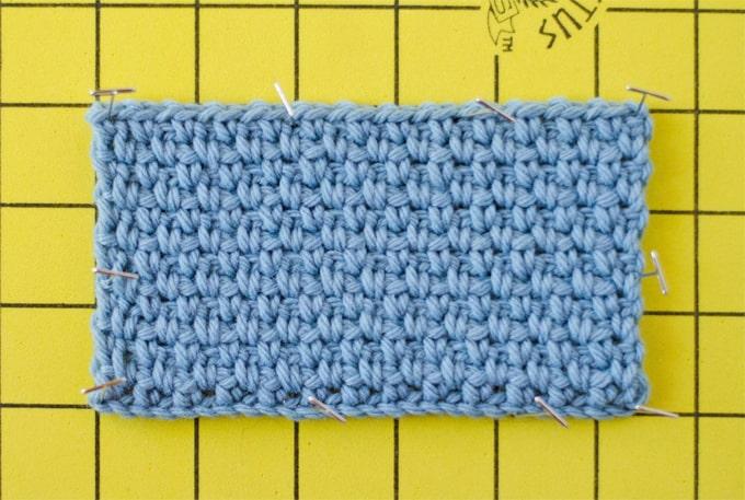 How to Block Crochet Work