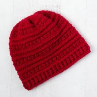 Buckeye Beanie - A Textured Crochet Hat