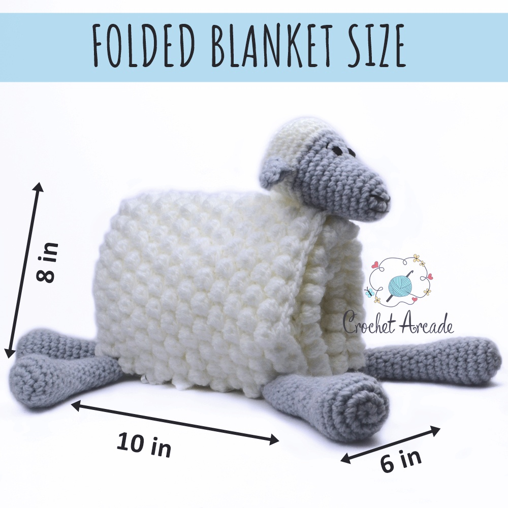 Cuddle and Play Sheep Baby Blanket Crochet Pattern