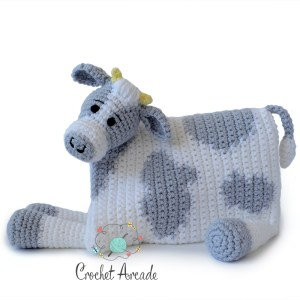 Cow Baby Blanket Crochet Pattern that turns in to crochet amigurumi toy