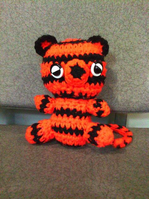 crochet tiger at SFO
