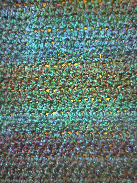Detail of a crochet shawl