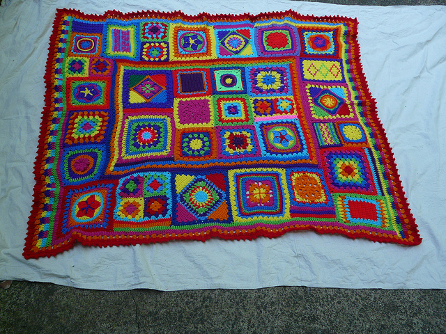 OMG! I finished the-afghan-that-has-eluded me - Crochetbug