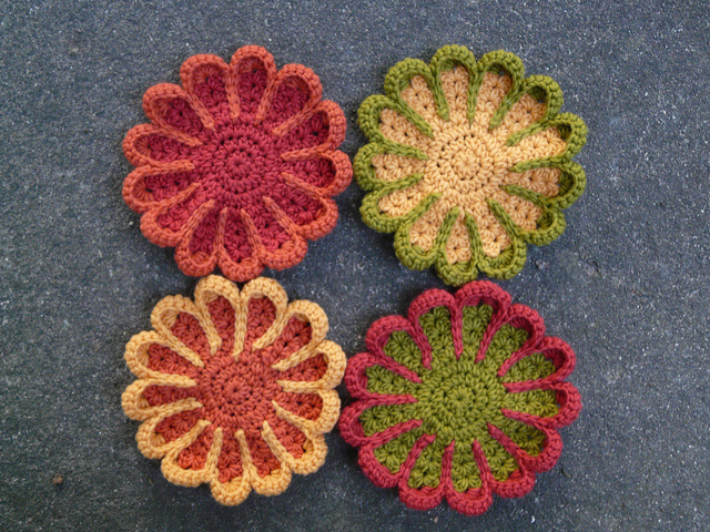 crochet flowers crochet pot holders