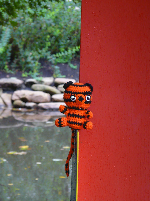 crochet tiger, amigurumi tiger, crochetbug, knoxville, tennessee