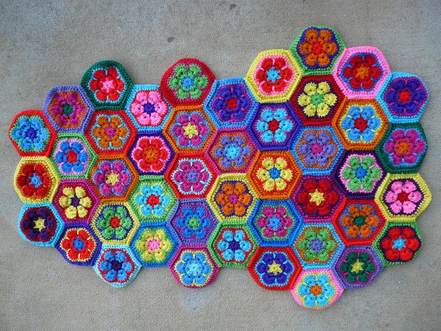 crochet hexagon crochet tote