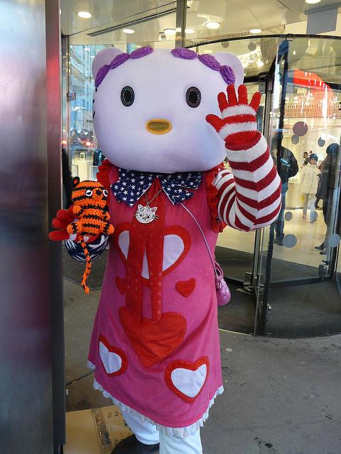 crochetbug, crochet tiger, amigurumi tiger, nyc, times square
