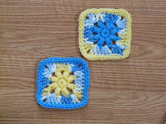 Two of crochet square 88