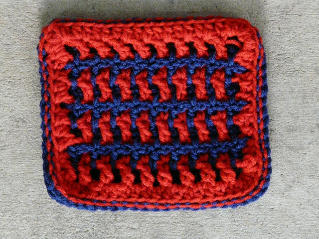 interlocking crochet swatch