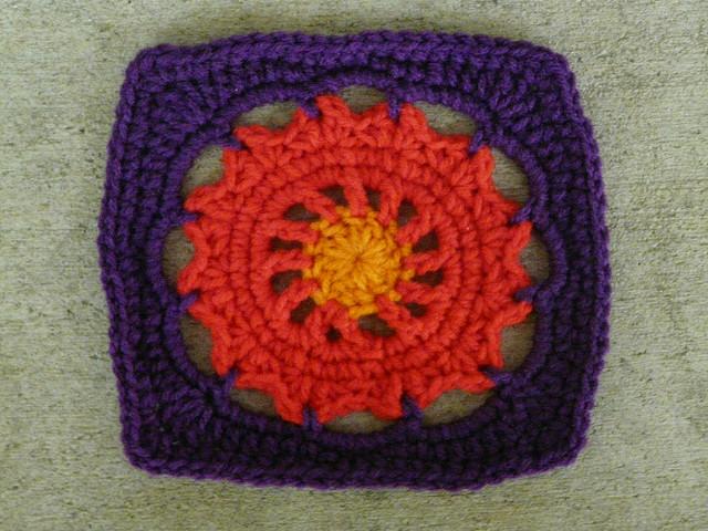 Square 25 crochet square with crochet circle center