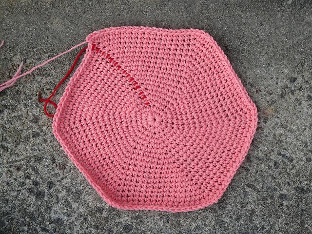 crochet stash basket bottom