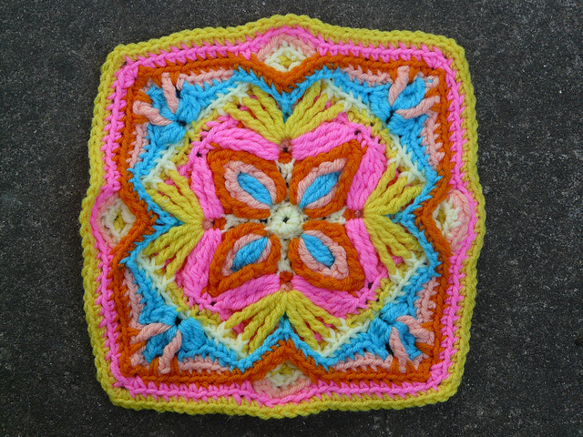crochetbug, overlay crochet swatch, textured crochet