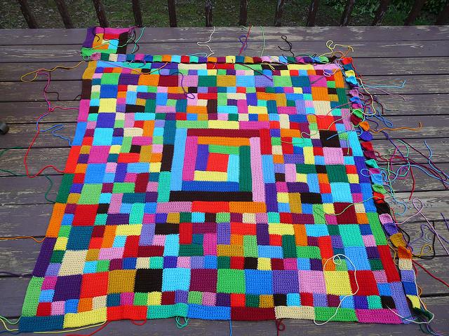 crochet blanket, crochet squares, crochet rectangles, crochetbug
