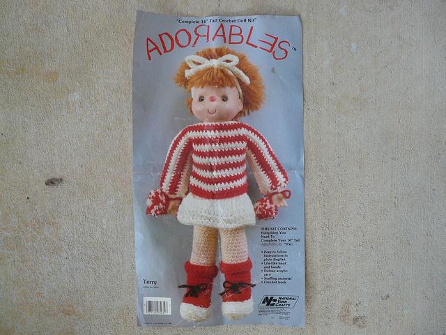 Vintage crochet doll pattern