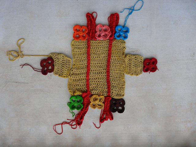 crochet squares, crochet basket, crochetbug