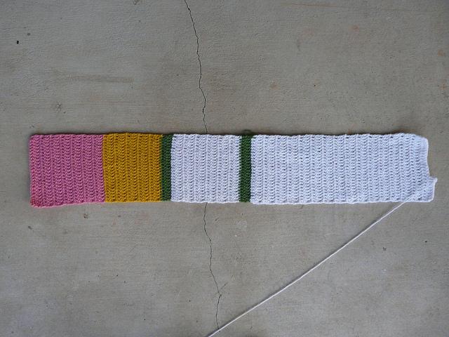 sushi crochet scarf