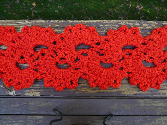 detail crochet lace scarf