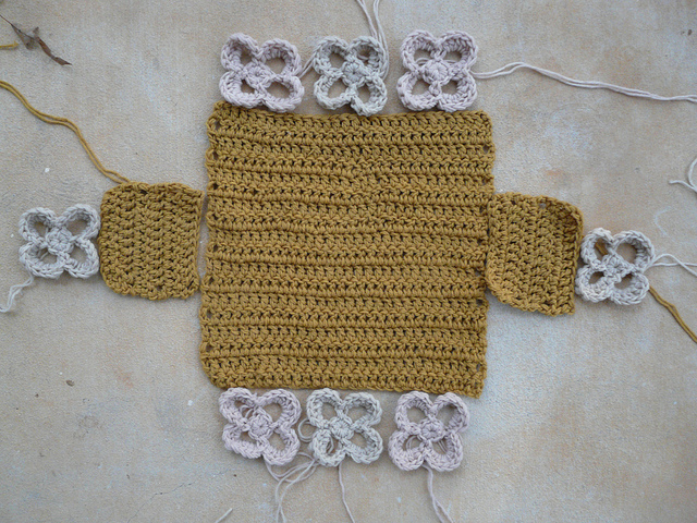 future felted crochet basket