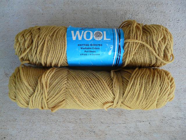antique gold vintage yarn