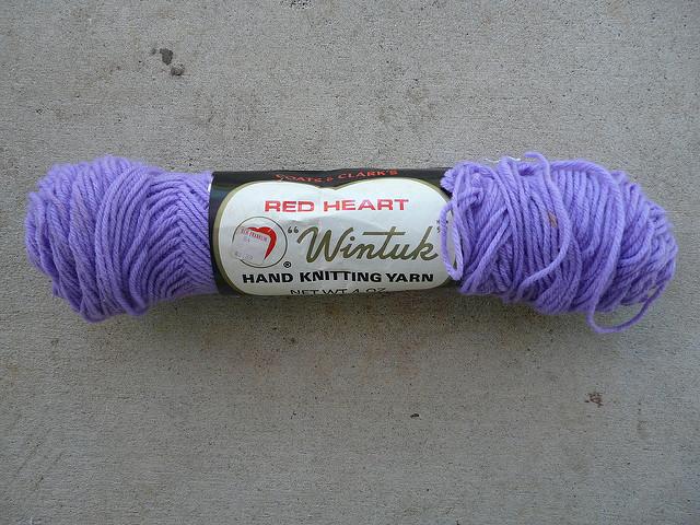 lavender vintage yarn