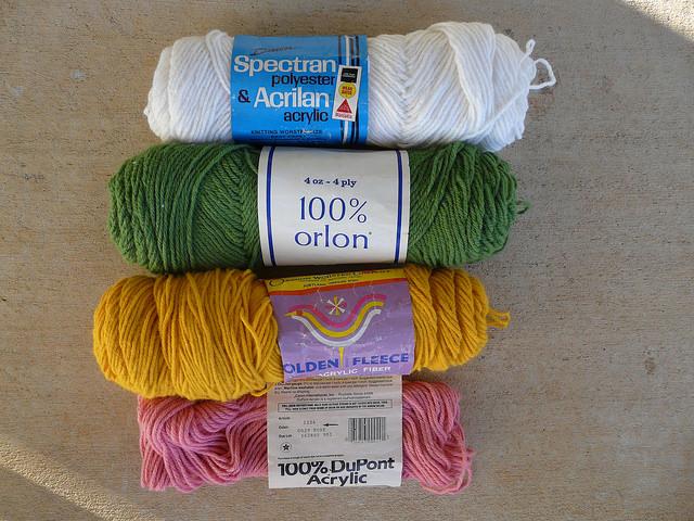vintage yarn stash